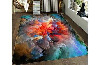 "3D Nebula Influx 670 Non Slip Rug Mat, 40cmx60cm (15.7""x23.6"")"
