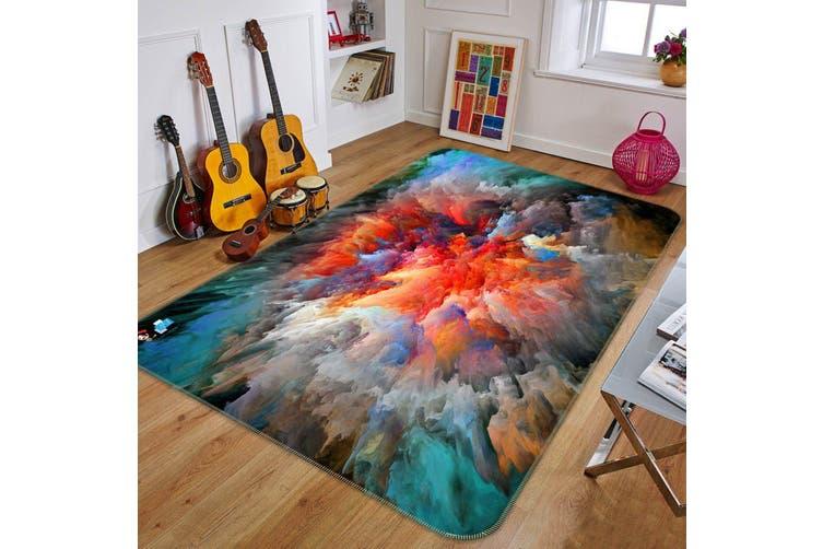 "3D Nebula Influx 670 Non Slip Rug Mat, 160cmx240cm (63""x94.5"")"