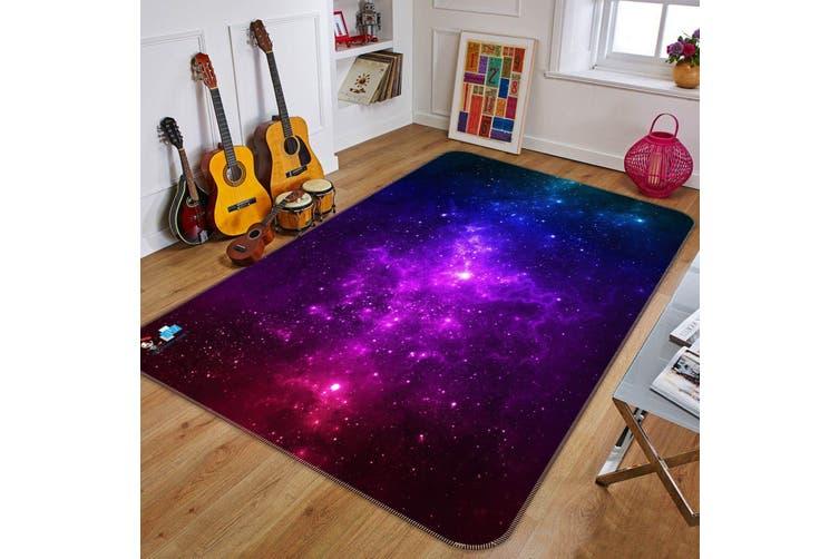 "3D Purple Starry Sky 669 Non Slip Rug Mat, 80cmx120cm (31.4""x47.24"")"