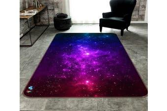 "3D Purple Starry Sky 669 Non Slip Rug Mat, 120cmx180cm (47.2""x70.9"")"