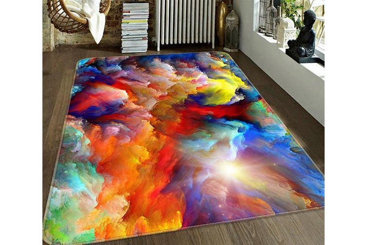 "3D Color Nebula 668 Non Slip Rug Mat, 120cmx180cm (47.2""x70.9"")"