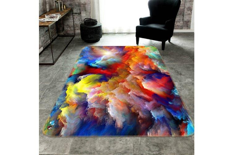 "3D Color Nebula 668 Non Slip Rug Mat, 160cmx240cm (63""x94.5"")"