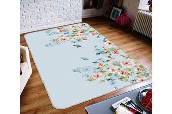 """3D Fresh Flower 667 Non Slip Rug Mat, 80cmx120cm (31.4""""x47.24"""")"""