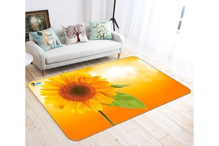 """3D Sunflower Flower 665 Non Slip Rug Mat, 40cmx60cm (15.7""""x23.6"""")"""