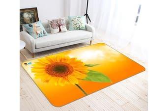 """3D Sunflower Flower 665 Non Slip Rug Mat, 80cmx120cm (31.4""""x47.24"""")"""