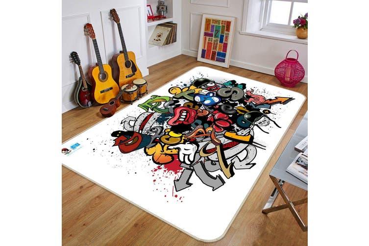 "3D Doodle Hand Drawn 664 Non Slip Rug Mat, 40cmx60cm (15.7""x23.6"")"