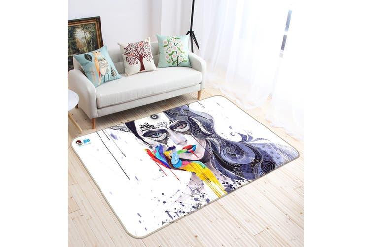 """3D Graffiti Girl 663 Non Slip Rug Mat, 80cmx120cm (31.4""""x47.24"""")"""