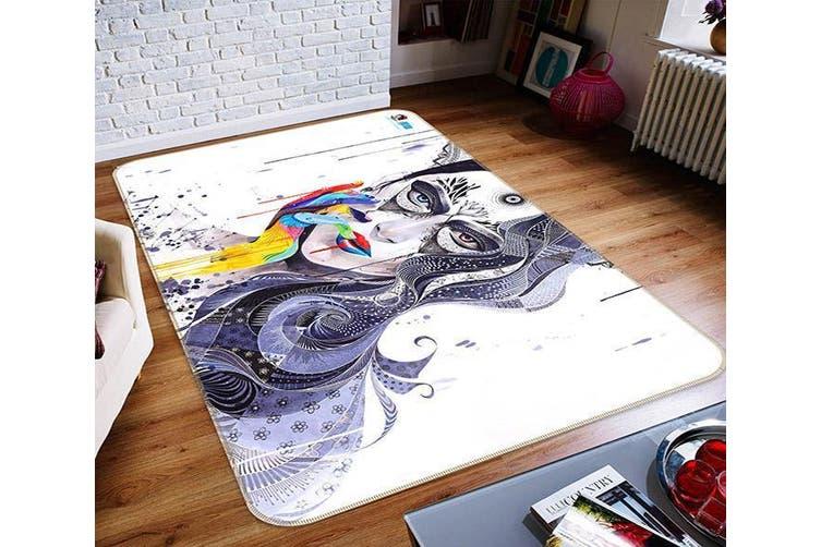 """3D Graffiti Girl 663 Non Slip Rug Mat, 140cmx200cm (55.1""""x78.8"""")"""