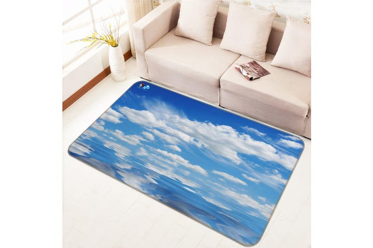 "3D Sky White Clouds 662 Non Slip Rug Mat, 80cmx120cm (31.4""x47.24"")"
