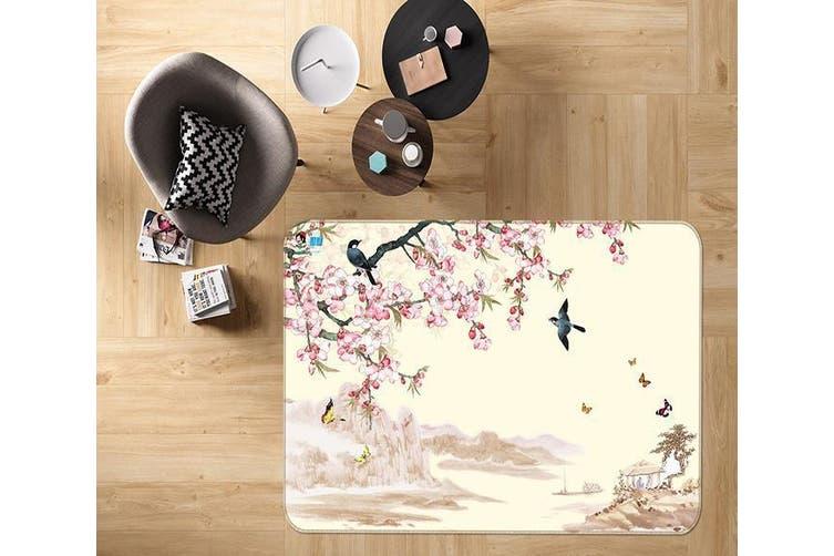 """3D Peach Blossom 660 Non Slip Rug Mat, 80cmx120cm (31.4""""x47.24"""")"""
