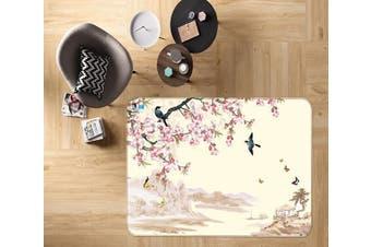 """3D Peach Blossom 660 Non Slip Rug Mat, 140cmx200cm (55.1""""x78.8"""")"""