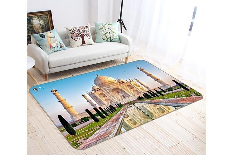 "3D Taj Mahal 659 Non Slip Rug Mat, 80cmx120cm (31.4""x47.24"")"
