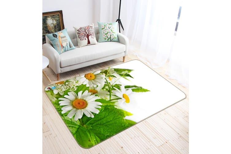 "3D Chrysanthemum Flower 636 Non Slip Rug Mat, 120cmx180cm (47.2""x70.9"")"
