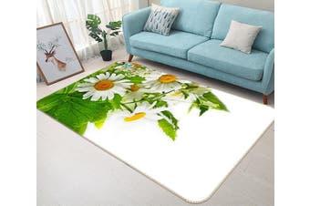 "3D Chrysanthemum Flower 636 Non Slip Rug Mat, 160cmx240cm (63""x94.5"")"