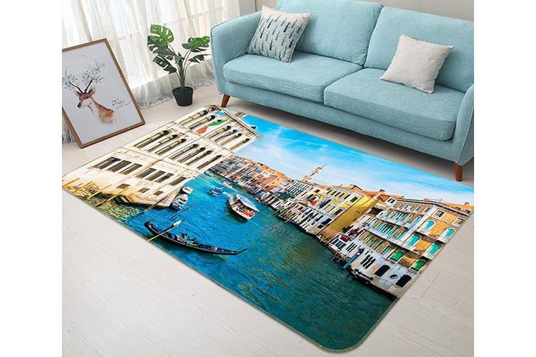 "3D Venice River 631 Non Slip Rug Mat, 120cmx180cm (47.2""x70.9"")"