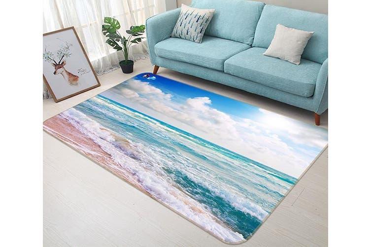 "3D Sky Beach 629 Non Slip Rug Mat, 140cmx200cm (55.1""x78.8"")"