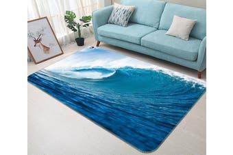 "3D Sea Surfing 628 Non Slip Rug Mat, 140cmx200cm (55.1""x78.8"")"