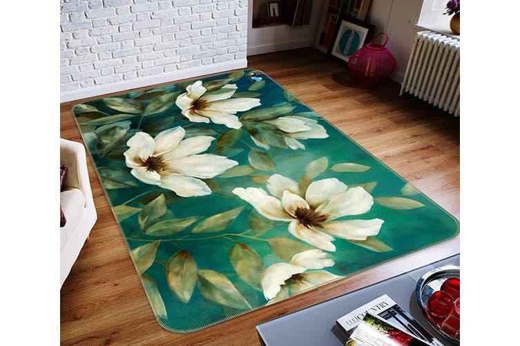 """3D Vintage Flower 625 Non Slip Rug Mat, 80cmx120cm (31.4""""x47.24"""")"""