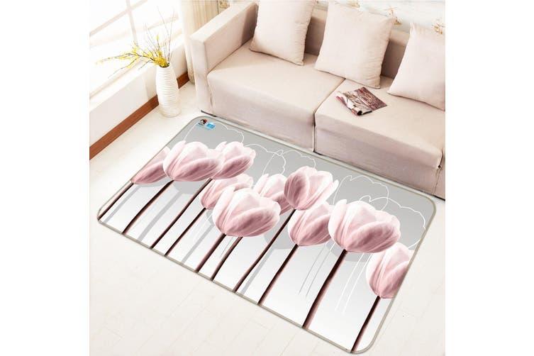 "3D Pink Tulip 624 Non Slip Rug Mat, 160cmx240cm (63""x94.5"")"