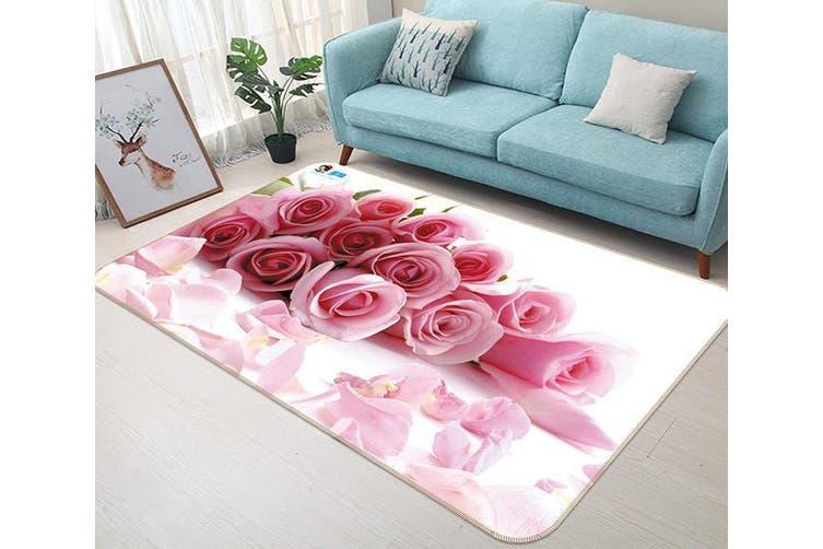 "3D Pink Rose 623 Non Slip Rug Mat, 60cmx90cm (23.6""x35.4"")"
