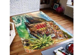 """3D Seaside Town 533 Non Slip Rug Mat, 40cmx60cm (15.7""""x23.6"""")"""