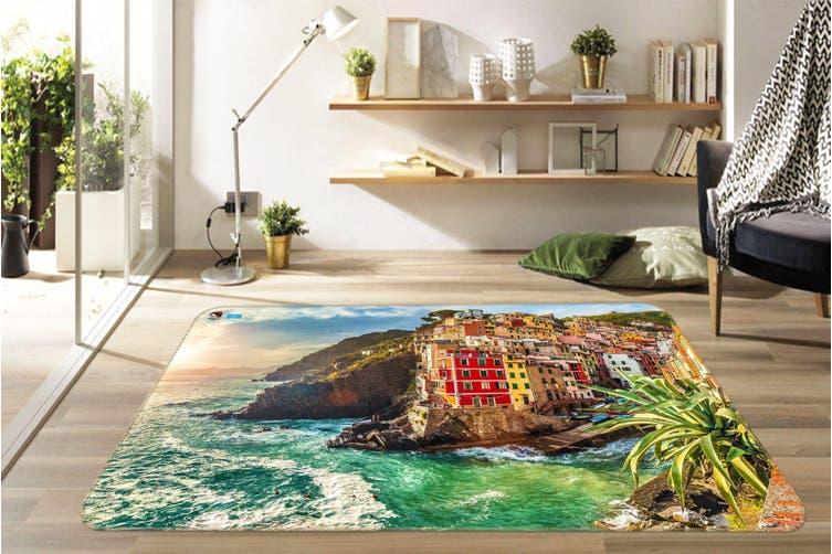 """3D Seaside Town 533 Non Slip Rug Mat, 60cmx90cm (23.6""""x35.4"""")"""