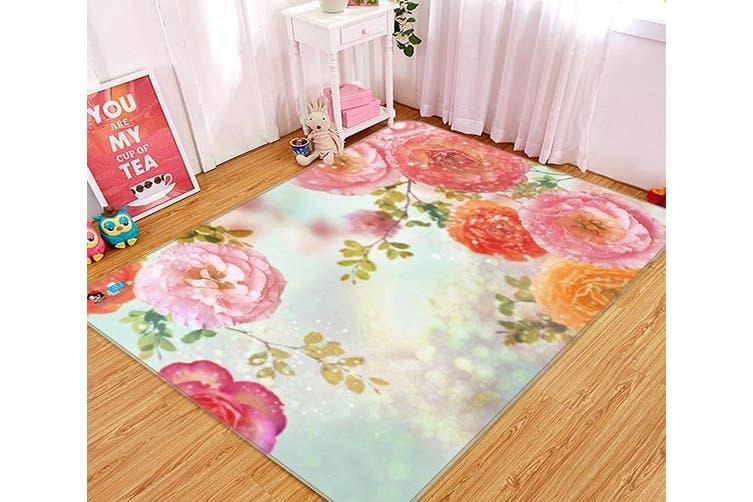 "3D Bright Flowers 531 Non Slip Rug Mat, 80cmx120cm (31.4""x47.24"")"