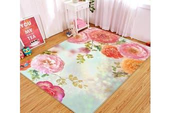"3D Bright Flowers 531 Non Slip Rug Mat, 140cmx200cm (55.1""x78.8"")"