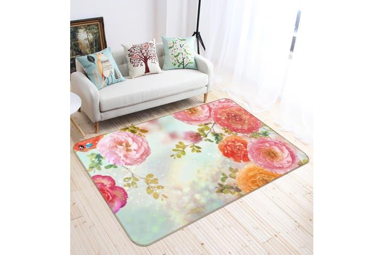 "3D Bright Flowers 531 Non Slip Rug Mat, 160cmx240cm (63""x94.5"")"
