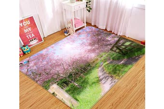 "3D Cherry Blossoms Tree 525 Non Slip Rug Mat, 80cmx120cm (31.4""x47.24"")"