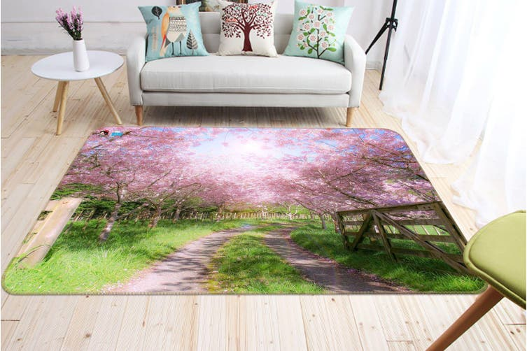 "3D Cherry Blossoms Tree 525 Non Slip Rug Mat, 120cmx180cm (47.2""x70.9"")"