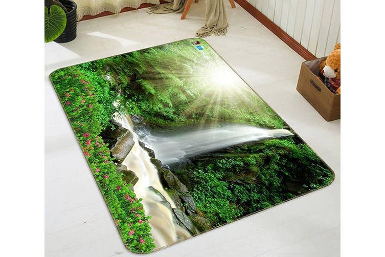 "3D Sunshine Waterfall 522 Non Slip Rug Mat, 40cmx60cm (15.7""x23.6"")"