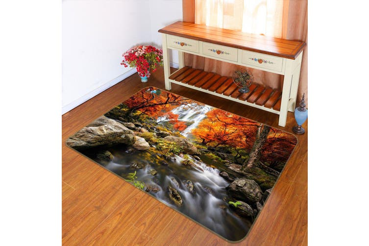 "3D Waterfall Maple 520 Non Slip Rug Mat, 60cmx90cm (23.6""x35.4"")"
