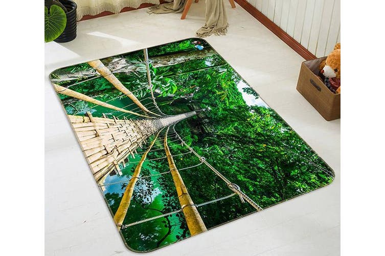 "3D Wooden Bridge 518 Non Slip Rug Mat, 60cmx90cm (23.6""x35.4"")"