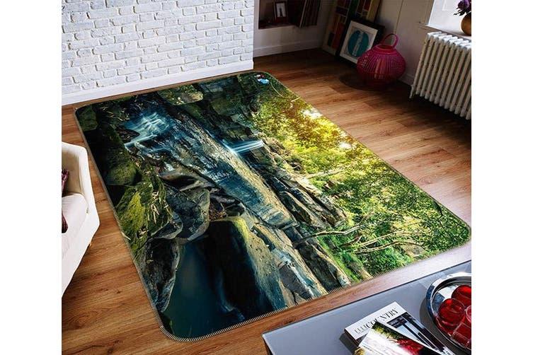 "3D Mountain Stone Forest 517 Non Slip Rug Mat, 60cmx90cm (23.6""x35.4"")"