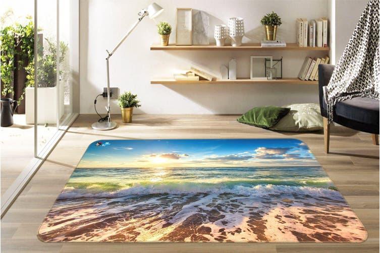 """3D Sunshine Waves 503 Non Slip Rug Mat, 40cmx60cm (15.7""""x23.6"""")"""