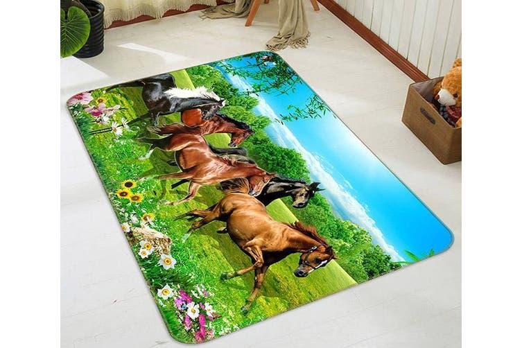 "3D Beautiful Horse 496 Non Slip Rug Mat, 40cmx60cm (15.7""x23.6"")"
