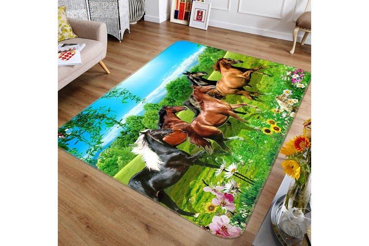 "3D Beautiful Horse 496 Non Slip Rug Mat, 80cmx120cm (31.4""x47.24"")"