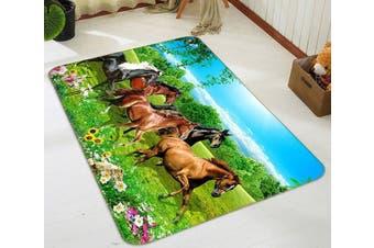 "3D Beautiful Horse 496 Non Slip Rug Mat, 160cmx240cm (63""x94.5"")"