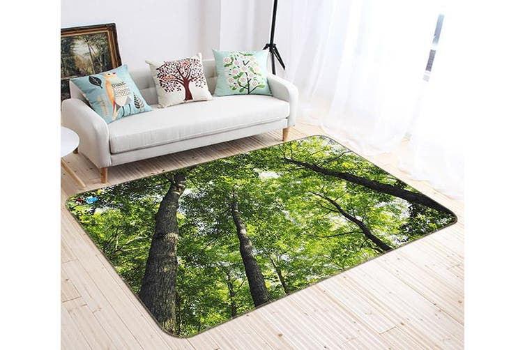 "3D Green Shaded Woods 489 Non Slip Rug Mat, 160cmx240cm (63""x94.5"")"