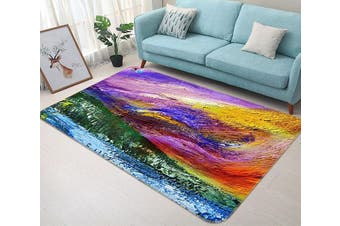 "3D Colored Oil Painting 470 Non Slip Rug Mat, 160cmx240cm (63""x94.5"")"