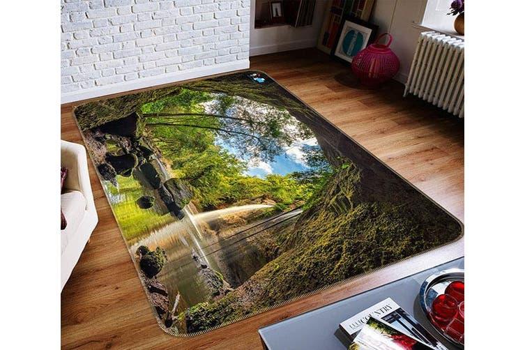 "3D Cave Waterfall 467 Non Slip Rug Mat, 160cmx240cm (63""x94.5"")"