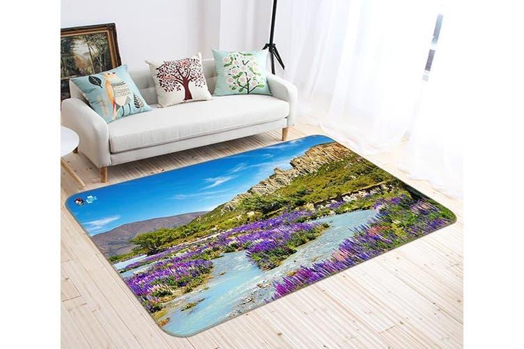 "3D Lavender Mountain 463 Non Slip Rug Mat, 40cmx60cm (15.7""x23.6"")"