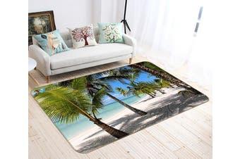 "3D Coconut Tree Shadow 460 Non Slip Rug Mat, 140cmx200cm (55.1""x78.8"")"
