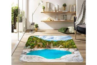 "3D Mountain Surround Lake 459 Non Slip Rug Mat, 140cmx200cm (55.1""x78.8"")"