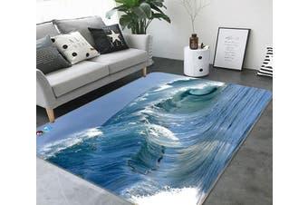 """3D Maritime Surf 458 Non Slip Rug Mat, 80cmx120cm (31.4""""x47.24"""")"""