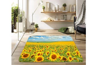"""3D Sunflower Field 455 Non Slip Rug Mat, 40cmx60cm (15.7""""x23.6"""")"""