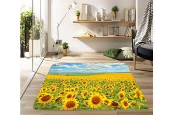 """3D Sunflower Field 455 Non Slip Rug Mat, 60cmx90cm (23.6""""x35.4"""")"""