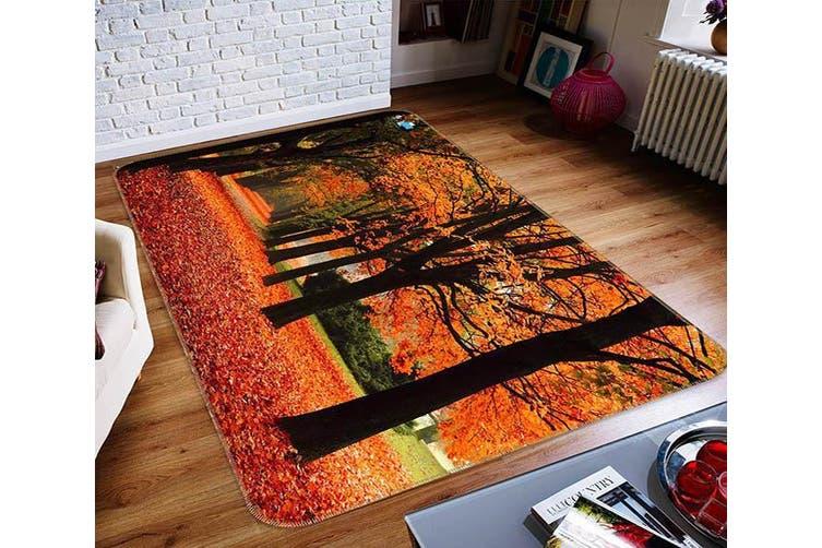 "3D Leaves Everywhere 453 Non Slip Rug Mat, 140cmx200cm (55.1""x78.8"")"