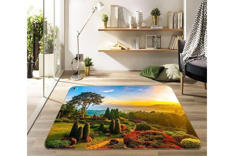 "3D Dusk Garden 452 Non Slip Rug Mat, 140cmx200cm (55.1""x78.8"")"